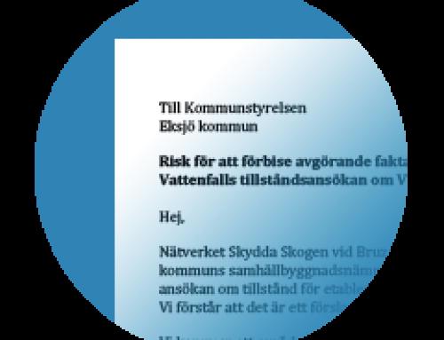 """Nätverket Skydda Skogen vid Bruzaholm""""s kommentar"""