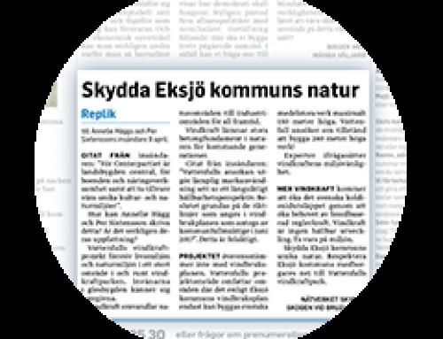 Smålandstidningen 9 april 2018 og Nätverket Skydda Skogen vid Bruzaholm's svar 16 april 2018.