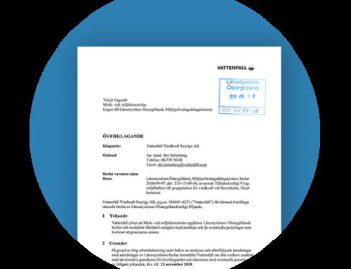 Vattenfall kommer att överklaga avslaget på tillståndsansökan
