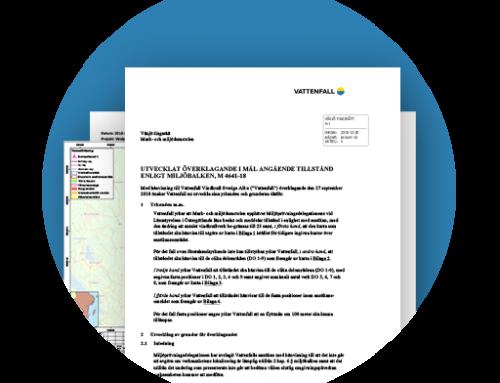 Nätverket Skydda Skogen vid Bruzaholms yttrande beträffande Vattenfall Vindkraft ABs